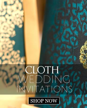 Cloth Wedding Invitations
