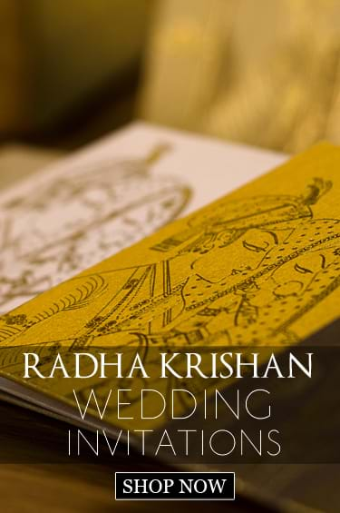 Radha Krishan Wedding Cards
